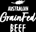 Australian Grain Fed Beef white logof
