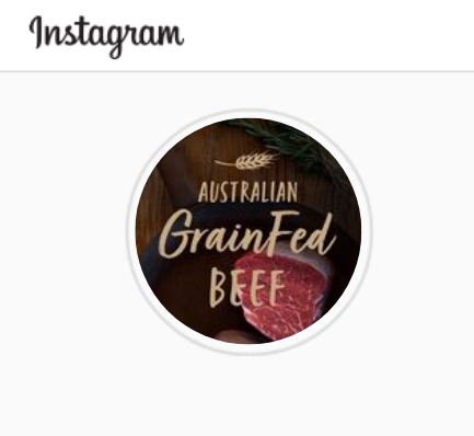 grain fed beef instagram